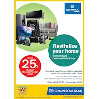 Enjoy Up to 25% Discount For Combank credit and Debit Cards Dinapala Group