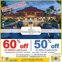 Get up to 60% Off at Hambantota Resort & Spa with BOC Credit Cards