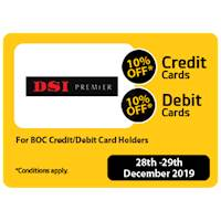 10% OFF Discounts for BOC Credit &Debit Card Holders at DSI Premier
