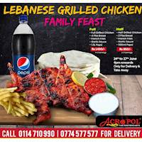 LEBANESE GRILLED CHICKEN FAMILY FEAST at Acropol Restaurant