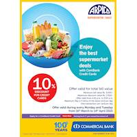 Get Up To 10% Off on Every Monday and Tuesday at Arpico Supercentre with ComBank Credit Cards