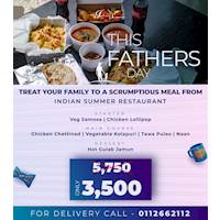 Treat your family to a Scrumptious meal at Indian summer for this Fathers day