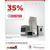 Enjoy up to 35% OFF on selected products at singer.lk with DFCC Credit Cards!