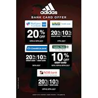 Enjoy seasonal bank card offers with Adidas