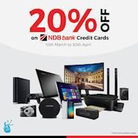 20% Off on NDB Bank Credit Cards at Takas.lk
