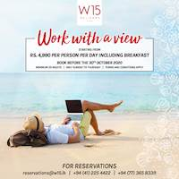 Work with a view! Rs 4,990 per person per day including breakfast.