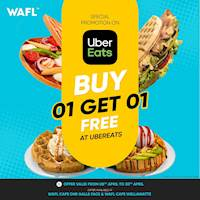 Buy 1 Get 1 Free for selected WAFL products on Uber Eats afrom WAFL