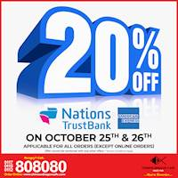 20% OFF for NTB AMEX cards at Chinese Dragon Cafe!