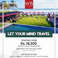 Double on Full Board Basis, Starting from Rs. 16,500 at W15 Weligama
