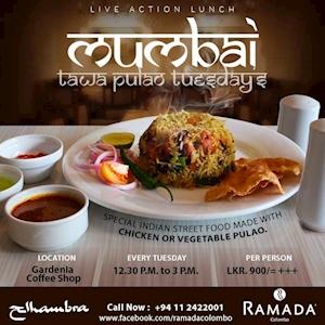 Mumbai Tawa Pulao Tuesdays at Gardenia Coffee Shop