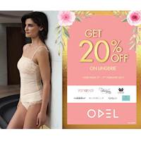 Get 20% on Lingerie at Odel