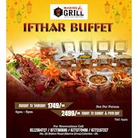 Celebrate the month of ramadhan with marine grill's special ifthar buffet menu