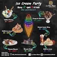 Ice Cream Party - Buy 2 Get 1 Free at La Rose Blanc