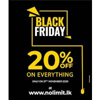 Black Friday Sale - 20% OFF on EVERYTHING when you shop at NOLIMIT ONLINE!