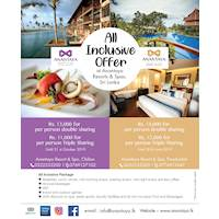 We just need to better your experience. Special AI Package at Anantaya Resort & Spa, Chilaw