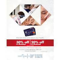 Get up to 30% off on HSBC Premier Credit Cardholders at Footrub