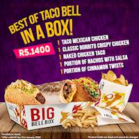 The Best of Taco Bell in a BOX for Rs. 1400/-