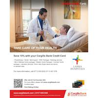 Save 10% with your Cargills Bank Credit Cards at Lanka Hospitals