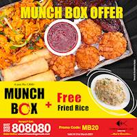 Munch box offer with Free Rice at Chinese Dragon Café!!