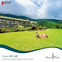 Treat your family to an exciting getaway in Kandy this December and enjoy up to 45% off with your Seylan Bank Credit Card.
