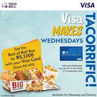 Save Rs. 595 with you Visa Credit/Debit Card Every Wednesday at Taco Bell Sri Lanka