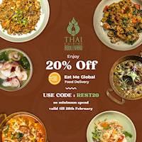 Get 20% off via Eat Me Global from Thai Cuisine Boulevard