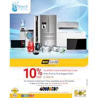 Enjoy 10% OFF on all BOC Credit & Debit (Chip) Cards at takas.lk