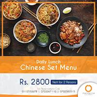 Daily Lunch- Chinese set menu at Mandarina Colombo