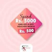 Spend Rs. 5000 And Get a Gift Voucher Worth Rs. 500 At Spring and Summer