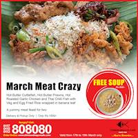 Free Soup with Every 4 Meat Crazy at Chinese Dragon Café!!