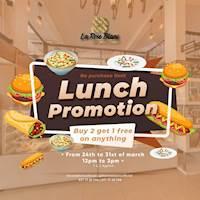 Lunch promotions - Buy 2 and Get 1 Free at La Rose Blanc