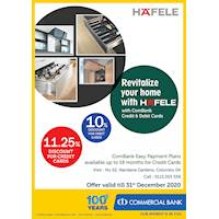 Revitalize your home with HAFELE with ComBank Credit and Debit Cards