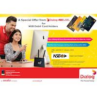 Special Offer from Dialog for NSB Debit Card