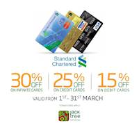 Upto 30% Off for Standard Chartered Bank Cardholders at Jack Tree
