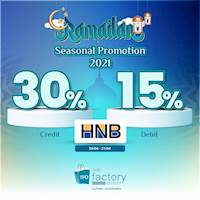 Enjoy up to 30% off for HNB cards at The Factory Outlet