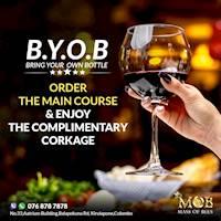 FREE CORKAGE at MOB