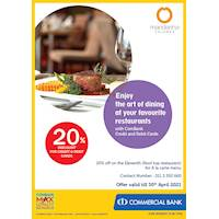 Enjoy 20% Discount for ComBank Credit and Debit Cards at Mandarina Colombo