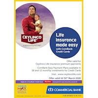 Life Insurance made easy with ComBank Credit Cards