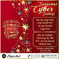 Seasonal Cyber Savings at Pizza hut