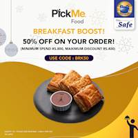 Breakfast Offer - Enjoy 50% off when you order from P&S via PickMe Food