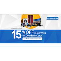 Grab Additional 15% OFF for ComBank Credit cards & 5% OFF for ComBank Debit cards at MyDeals.lk