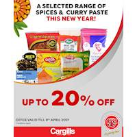 Get up to 20% Off on selected Spices & Curry Paste at Cargills FoodCity!