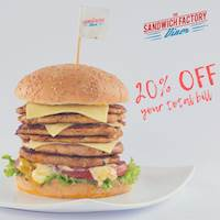 Enjoy this great deal on this long weekend break for dine-in, takeaway & delivery at The Sandwich Factory