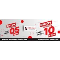 Special Offer for NDB Cards on Mybazaar.lk