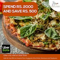 Buy for Rs. 2000 and save Rs. 500 only on Uber Eats at Harpo's Pizza