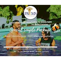 Special Couple Package at Palms Mount Lavinia