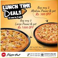 Lunch Time Deals from Pizza Hut!