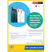 iPhone 12 Offer - Pre-order the latest iPhone 12 range and get amazing offers with ComBank Credit Cards at GENXT Store