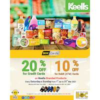 Get 20% OFF on BOC Credit & 10% OFF on Debit Cards for KEELLS branded products at KEELLS Supermarkets