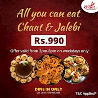 All you can eat Chaat & Jalebi at TheChaatco